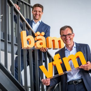 Geschäftsführer der vfm-Gruppe Kaus Liebig & Robert Schmidt